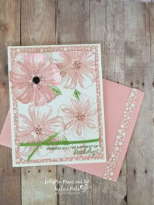 Bunch of Blossoms, Stampin'Up!, Floral Happy Birthday Card, Pink