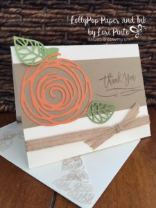 Thoughtful Branches, Beautiful Branches, Swirley Sribbles, Stampin Up!, Fall Thank You Card