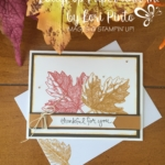 Thankful for You Simple Vintage Leaves