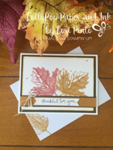 Stampin' Up!, Thankful for You, Vintage Leaves Simple