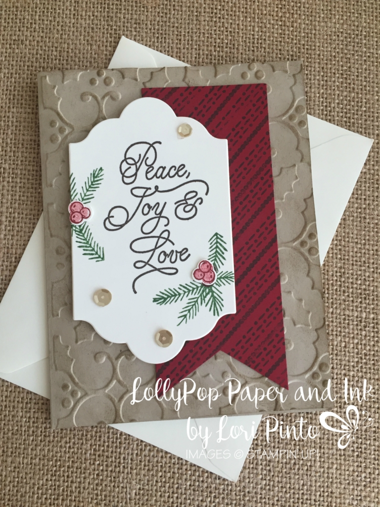 Stampin' UP!, Stampinup, Peace this Christmas, Peace Joy & Love