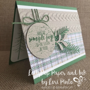 Stampin' Up!, Stampinup, Christmas Pines, Pretty Pines, Cable Knit Embossing Folder