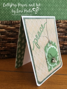 Stampin' Up!, Stampinup, Christmas Greetings Thinlits, Warmth & Cheer DSP, Peace