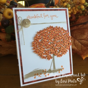 Stampin' Up! Sheltering Tree, Thoughtful Branches, Thankful for you
