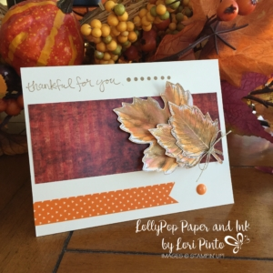 Stampin' Up! Vintage Leaves, Thankful for you