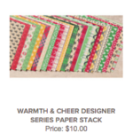 With Love, Tin of Tags, Stampin' Up! Stampinup, Warmth & Cheer, Cherry Cobbler
