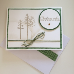 Stampin' Up! Christmas Wishes, Holly Berry Happiness, Thoughtful Branches, Circle Stitched Framelits