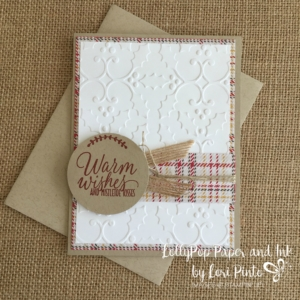 Warm Wishes, Tin of Tags, Stampin' Up!, Stampin up, Holly Embossing Folder, Warmth & Cheer