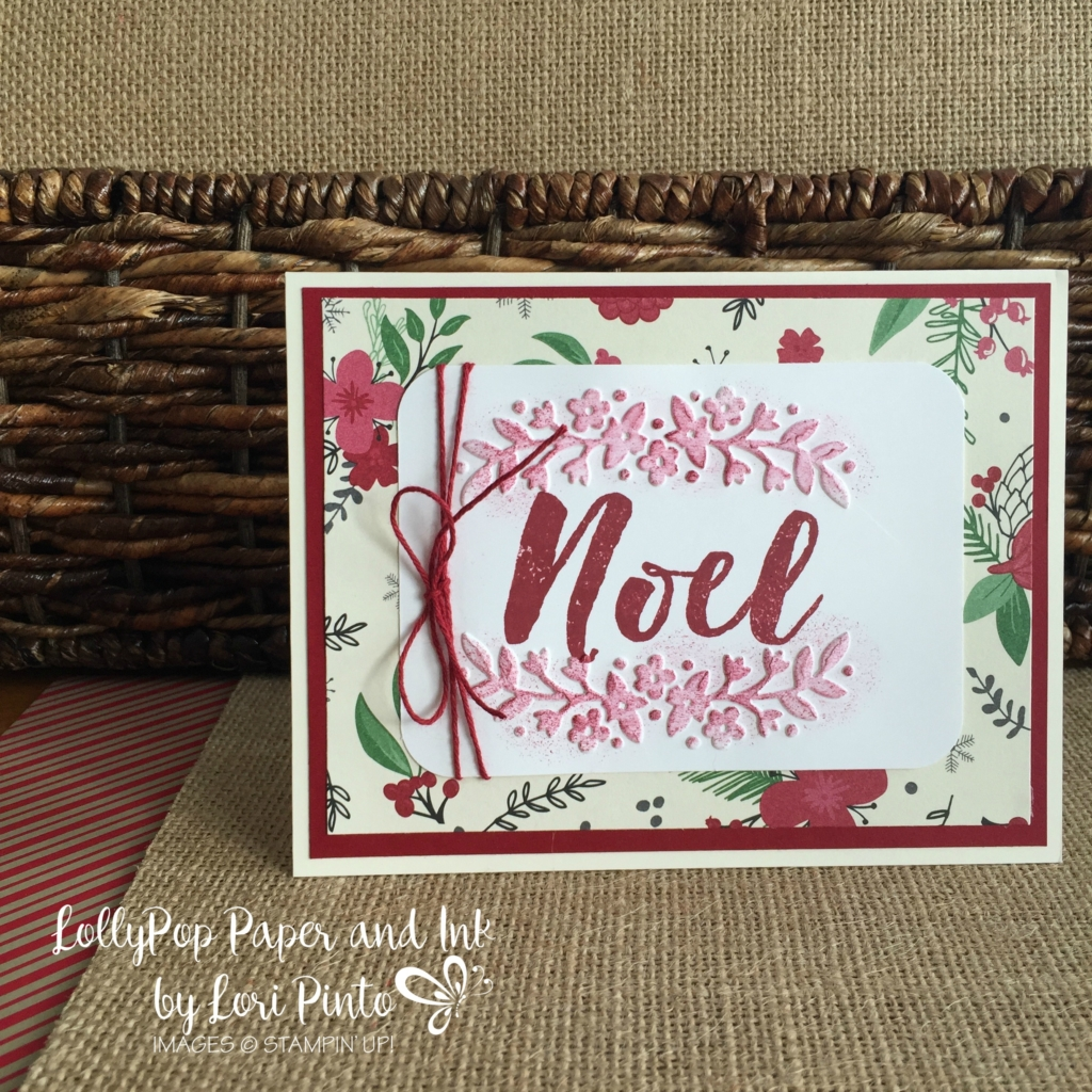 Stampin' Up!, Floral Affection Folder, This Chrisrtmas DSP, Christmas Pines