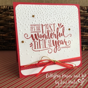 Stampin' Up!, Wonderful Year, Softly Falling Folder, CandyCane Washi Tape, Square Card