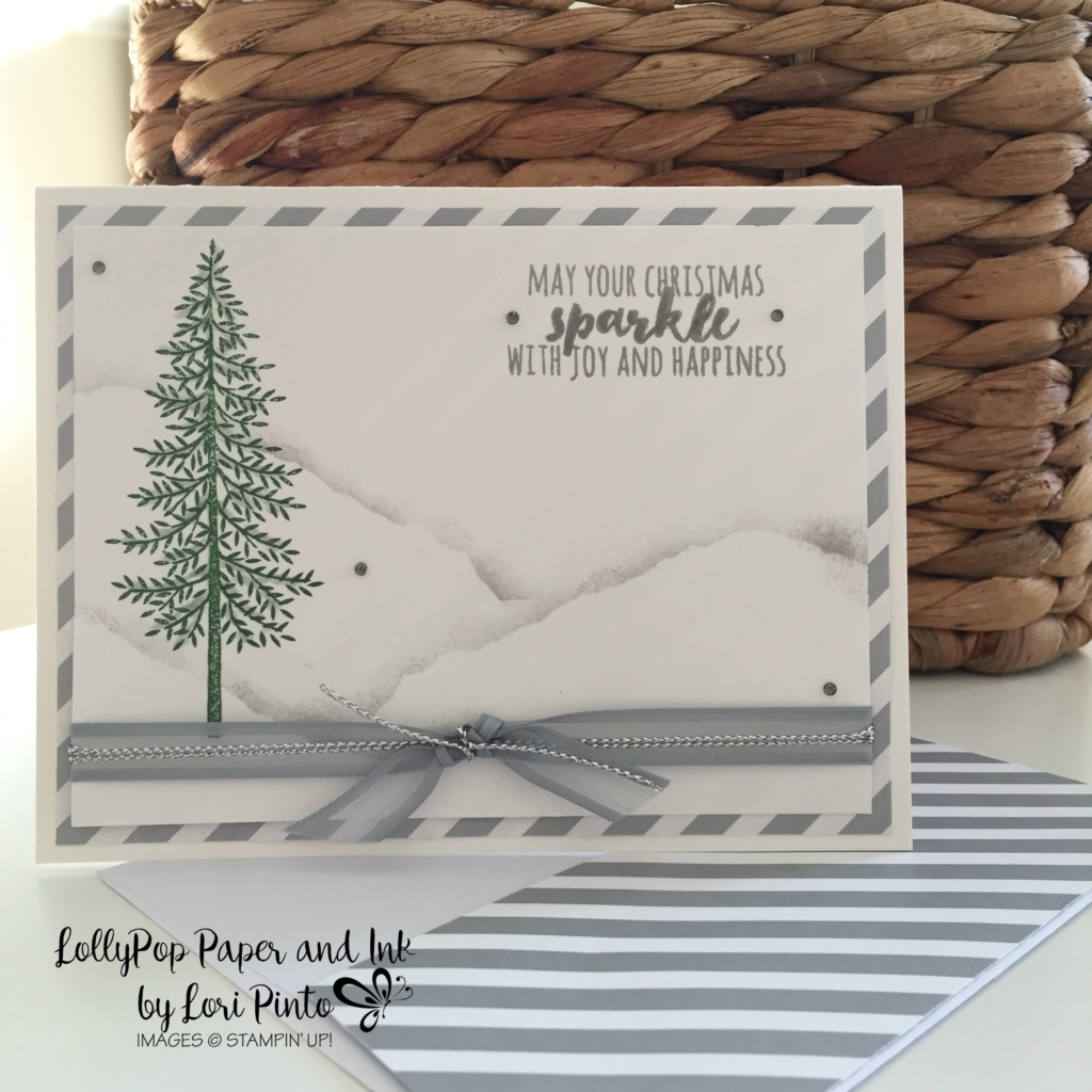 Stampin' Up!, Christmas Pines, Thoughtful Branches, Smokey Slate, Christmas Sparkle