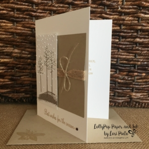 Stampin' Up!, Thoughtful Branches, Sheltering Tree, Holly Berry Happiness, Softly Falling Folder
