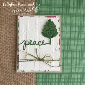 Stampin' Up!, Leaflet Thinlits, Christmas Greeting Thinlits, Woodland Embossing Folder