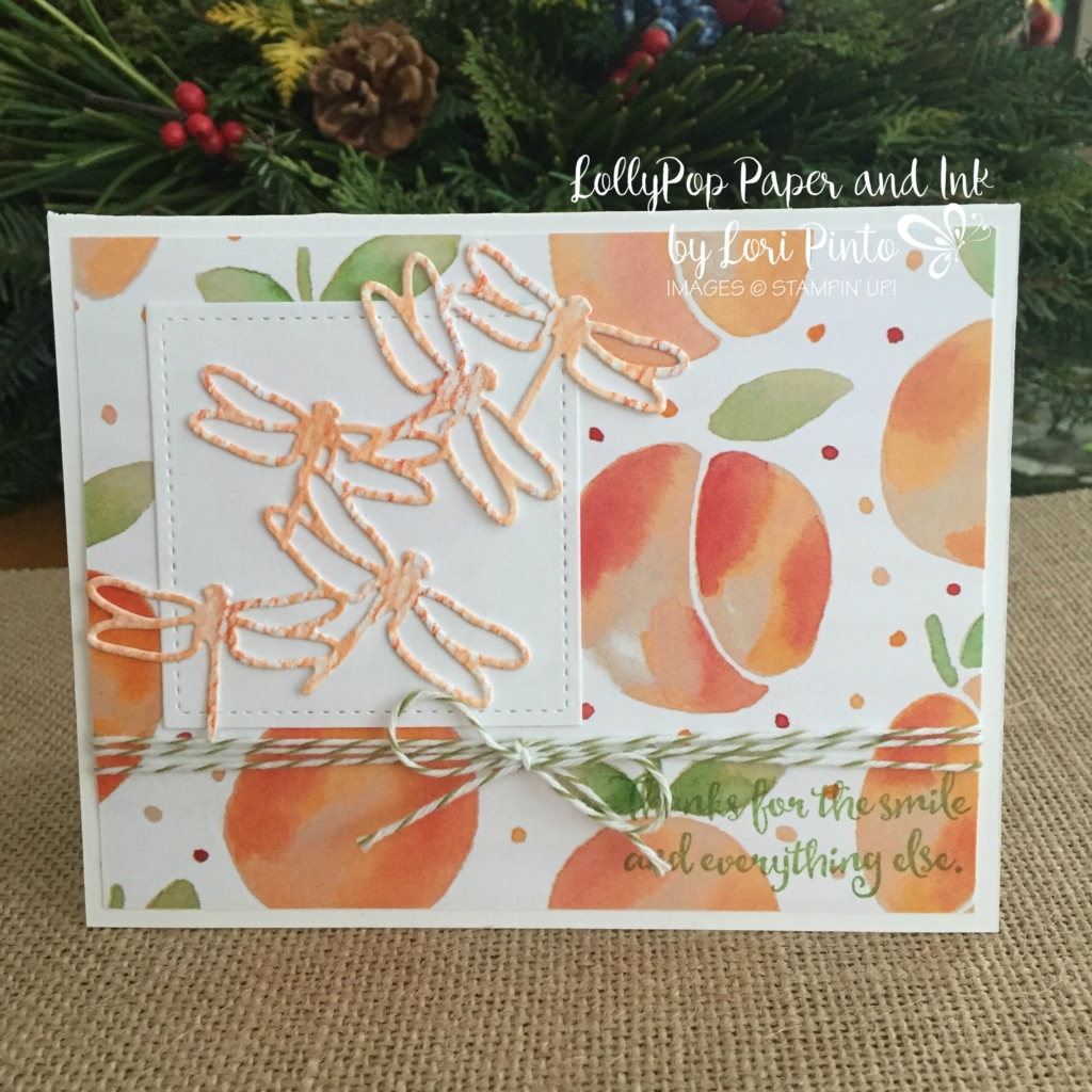 Stampin' Up!, Dragonfly Dreams, Fruitstand DSP, Peakaboo Peach