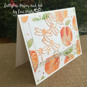 Stampin' Up!, Dragonfly Dreams, Fruitstand DSP, Peakaboo Peach, Watercolor Pencils