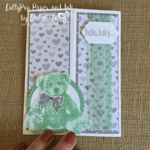 Stampin' Up!, Baby Bear, Hello Baby, Pear Pizzazz, A Little Foxy DSP, Lots of Labels Framelits
