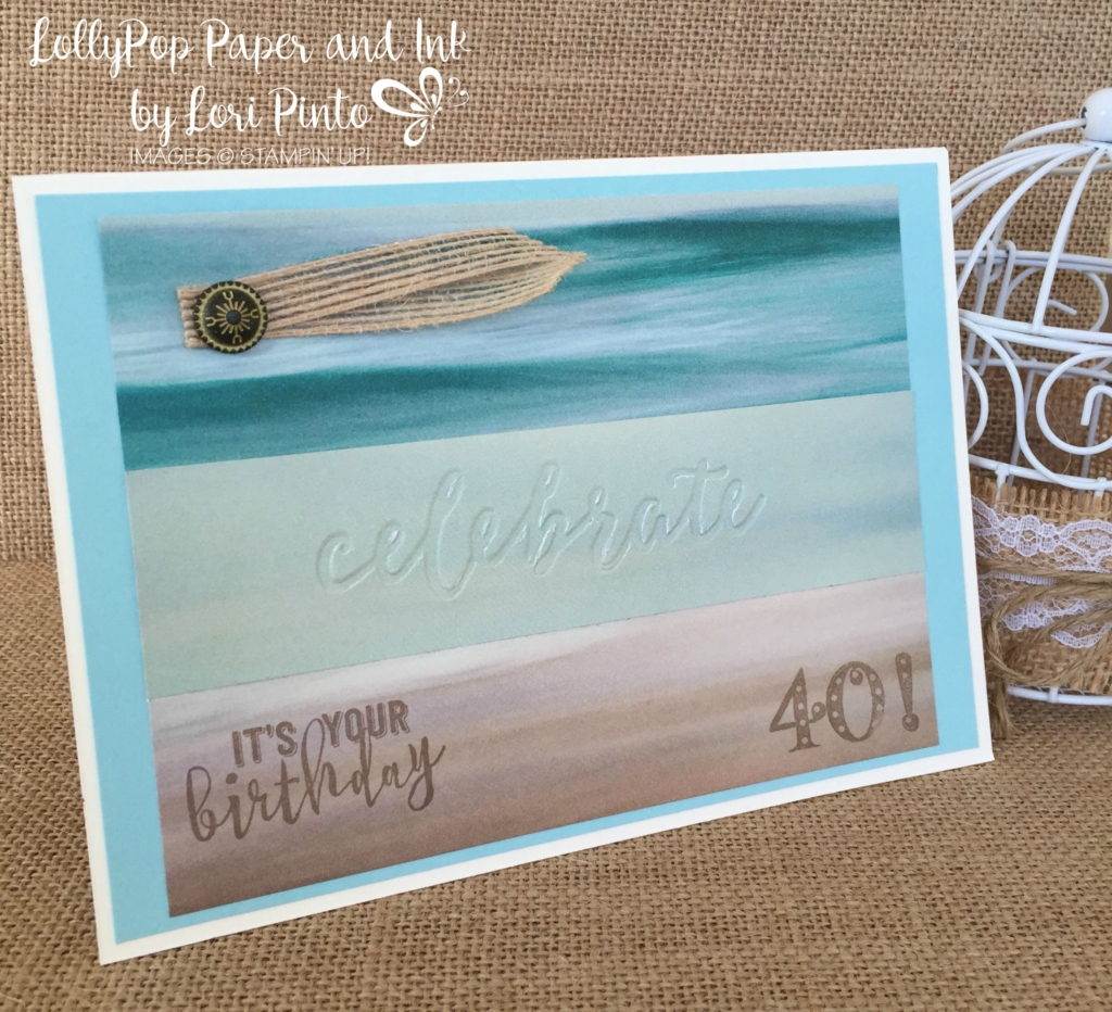 Stampin'Up!, Duo Embossing Folder, Balloon Adventure, Happy Birthday Card, Turning 40 Card
