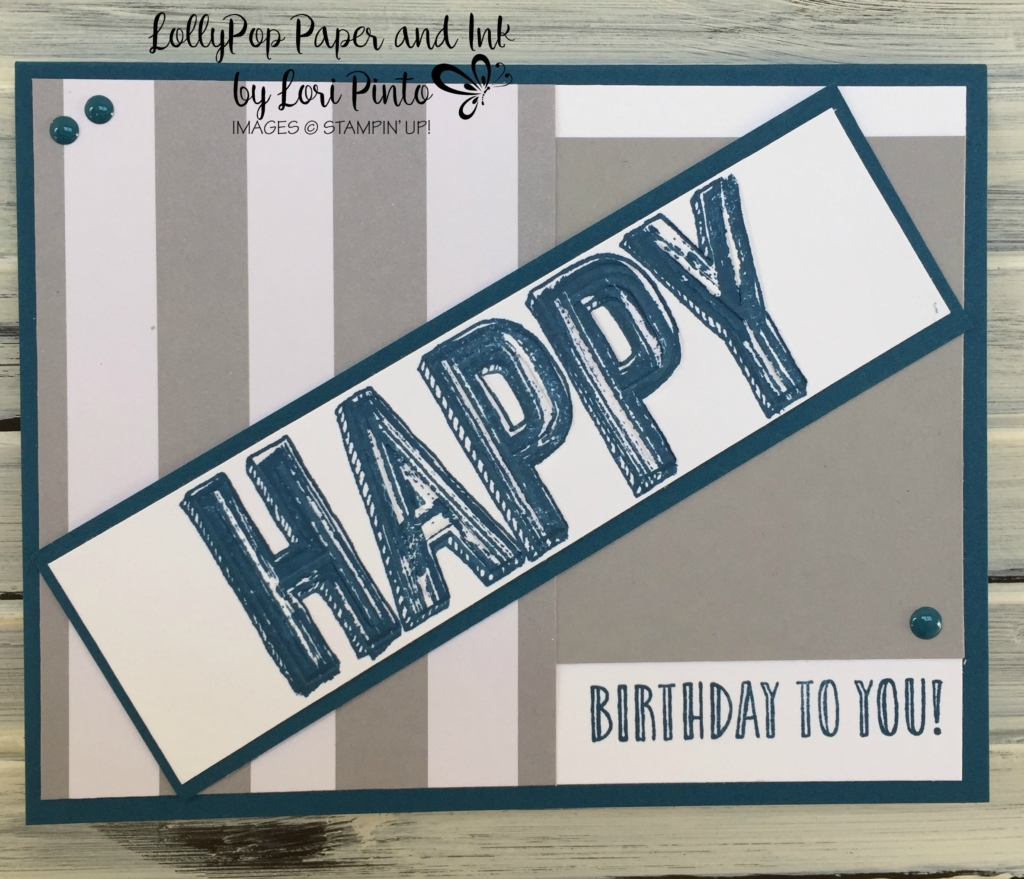 Stampin' Up!, Duo Celebrations, Happy Celebrations, Happy Birthday, Masculine