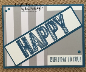 Happy Birthday Masculine Card, Happy Celebrations, Duo Celebrations Embossing Folder
