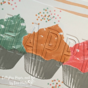 Stampin' Up! Sweet Cupcake, Celebrations Duo Embossing Folder, Fruit Stand DSP