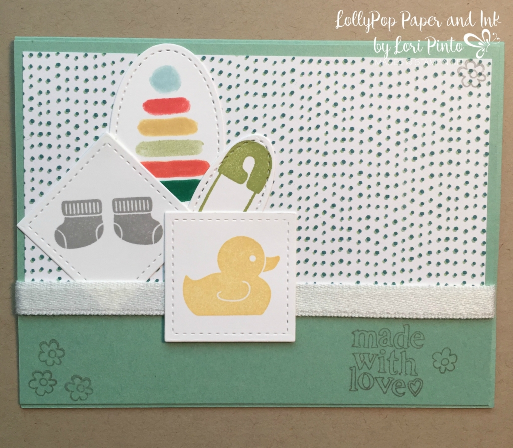 Stampin' Up! Made with Love, Something for Baby, Neutral Baby Card