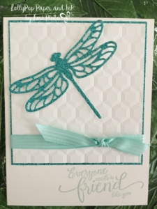 Stampin' Up!, Dragonfly Dreams, Glimmer Paper, Hexagon Embossing Folder