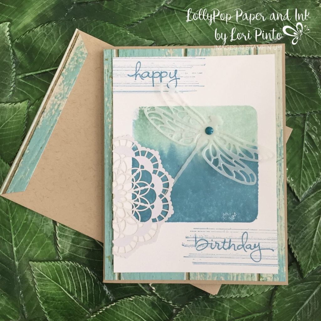 Stampin' Up!, Dragonfly Dreams, Happy Birthday, Serene Scenery, Gorgeous Grunge