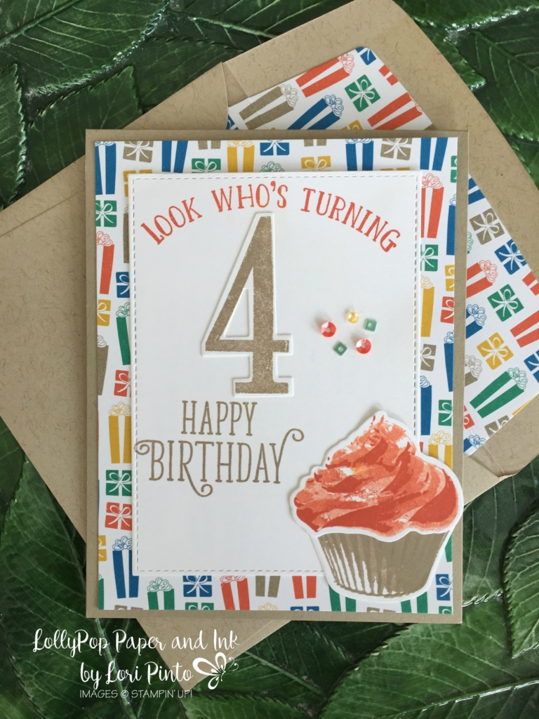 Stampin' Up! Sweet Cupcake, Number of Years, Large Number Framelits Dies, Happy Birthday Gorgeous