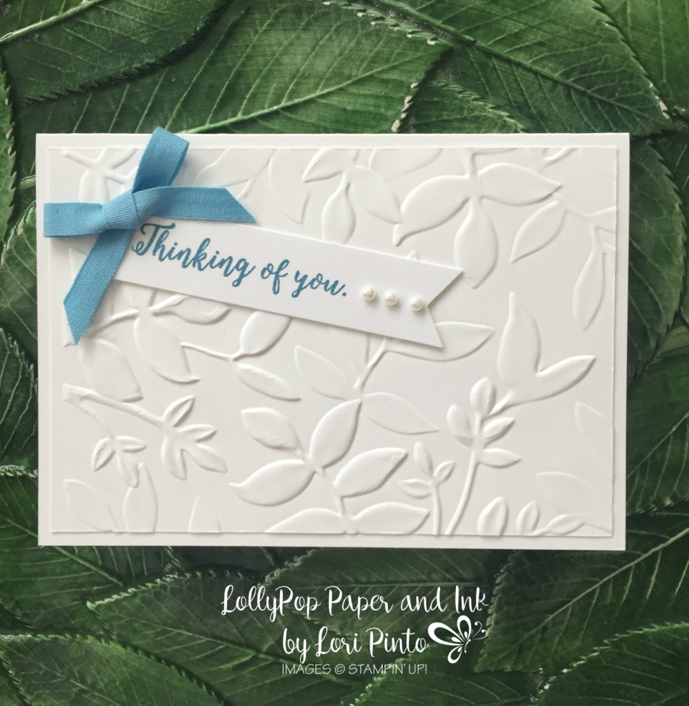Stampin' Up!, Stampinup! Note Cards, LAYERED LEAVES DYNAMIC TEXTURED IMPRESSIONS EMBOSSING FOLDER, Sheltering Tree Stamp Set