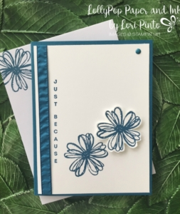 Stampin' Up!, Flower Shop stamp set, Vertical Greetings Stamp set, Dapper Denim, Just