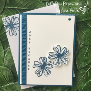 Stampin' Up!, Flower Shop stamp set, Vertical Greetings Stamp set, Dapper Denim, Just Because