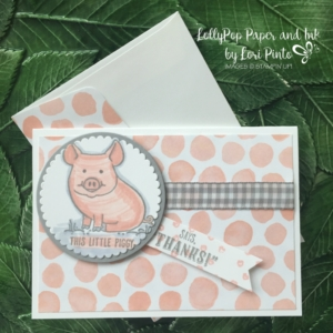 Stampin' Up! Clean and Simple Mini Note Cards, This Little Piggy