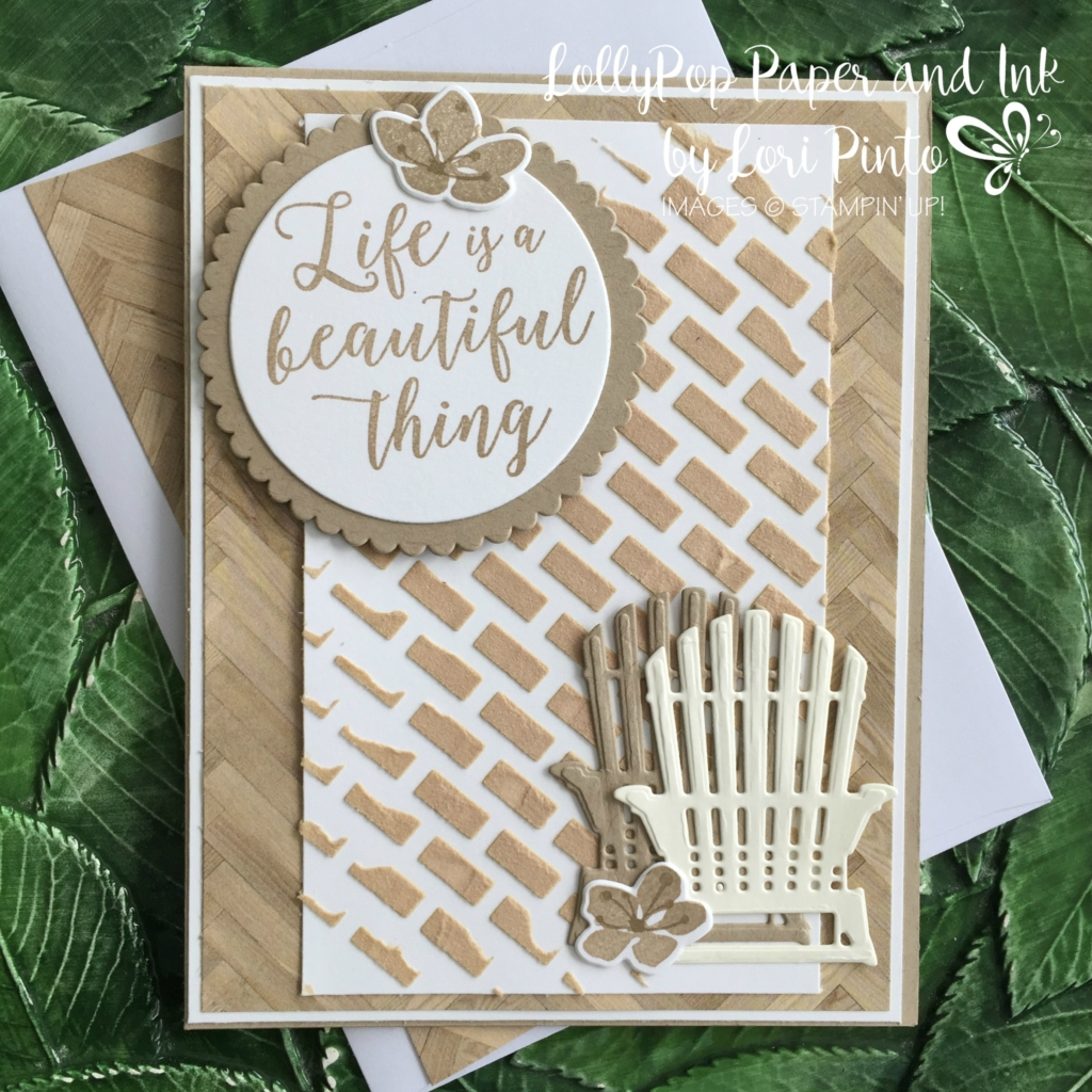 Stampin' Up!, Colorful Seasons stamp set and bundle, Seasonal Layers Thinlits Dies, Embossing Paste, MonoMonday