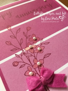 Stampin' Up! Stampinup!, MonoMonday, Color Theory, Touches of Texture, Milestone Moments, Berry Burst