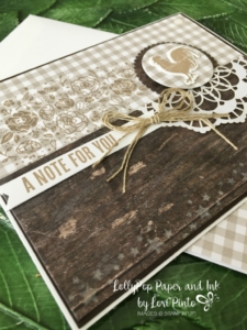 Stampin' Up! Wood Words stamp set and bundle, Monochromatic, Mono Monday, Rustic Note Car