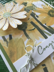Stampin' Up! Daisy Delight Stamp Set and Bundle, Delightful Daisy DSP, Congratulations
