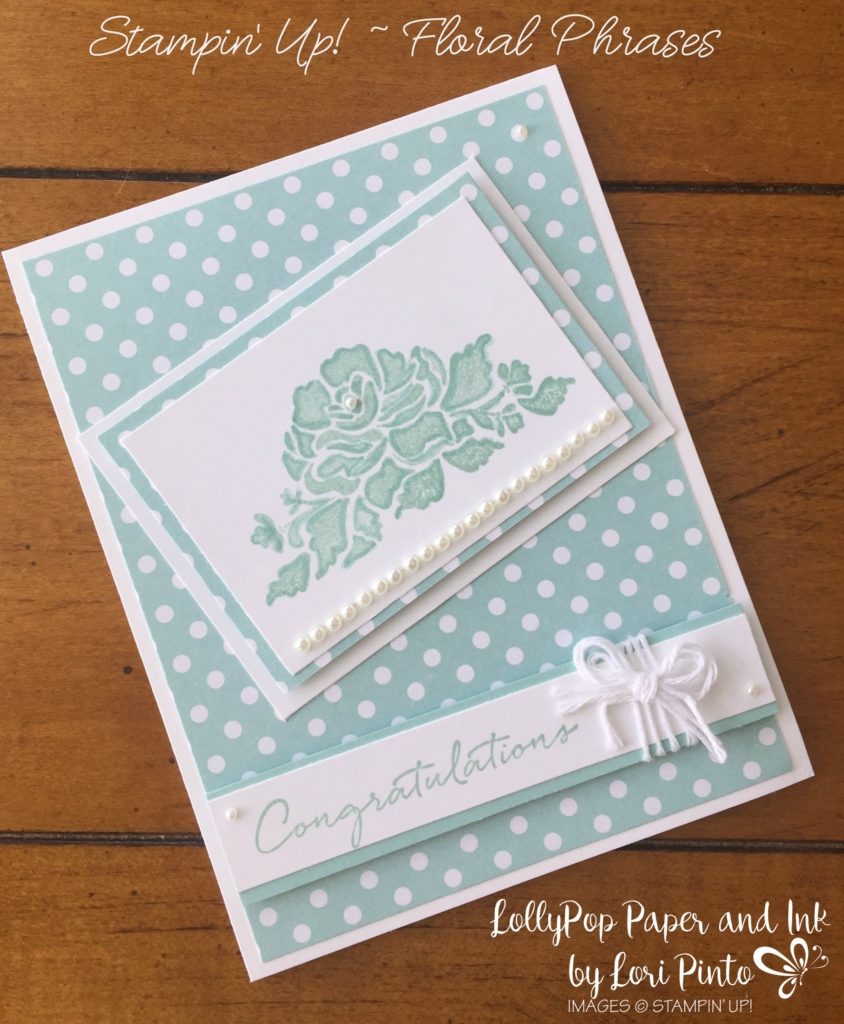 Stampin'Up!, Floral Phrases, MonoMonday, Pool Party, Wedding Wishes, Congratulations