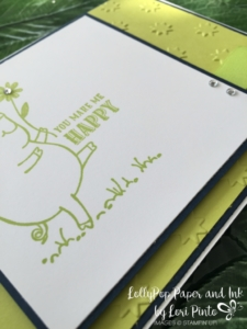 Stampin'Up!, This Little Piggy, Lemon Lime Twist, Oh My Stars Embossing Folder