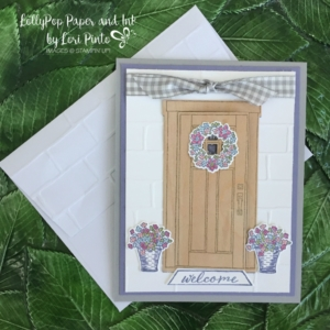 Stampin' Up!, At Home With You stamp set and bundle, Wood Textures DSP Stack, Gingham Ribbon