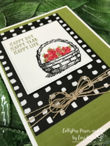 Stampin' Up!, Basket of Wishes, Pick A Pattern DSP, #tictactoechallenge, #tttc008, Happy Day