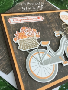 Stampin' Up! Bike Ride Stamp Set, Build A Bike Framelits Dies, Happy Birthday Gorgeous, Congratulations