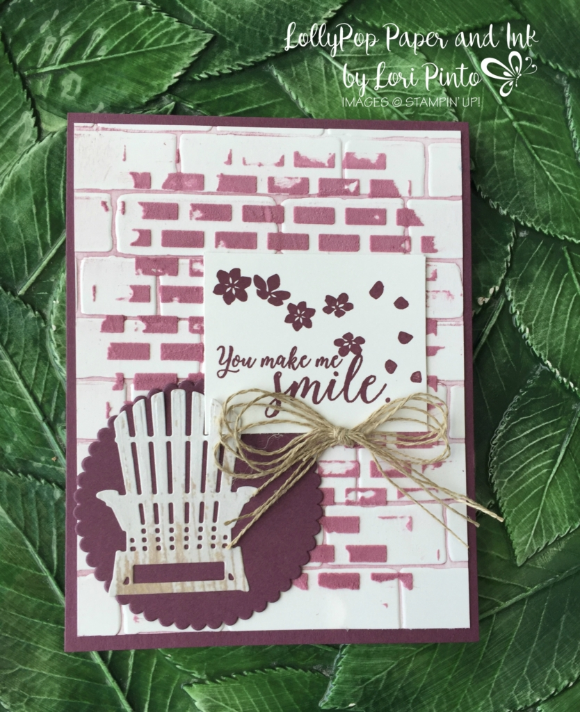 Stampin' Up!, Colorful Seasons stamp set and bundle, Fresh Fig, Embossing Paste, Brick Wall Textured Embossing Folder