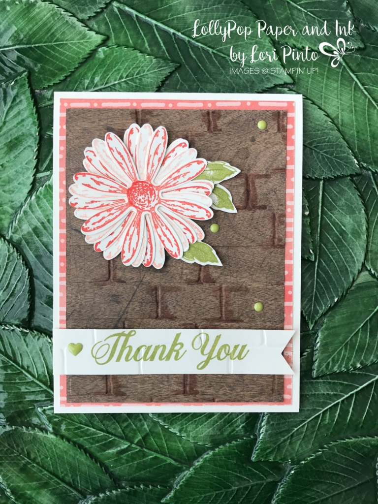 Stampin' Up!, Daisy Delight Bundle, Brick Wall Textured Impressions Embossing Folder, Wood Textures DSP Stack