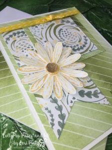 Stampin' Up!, Daisy Delight stamp set and punch, Delightful Daisy DSP, Daffodil Delight Double Stitched Ribbon, Wood Words Stamp set