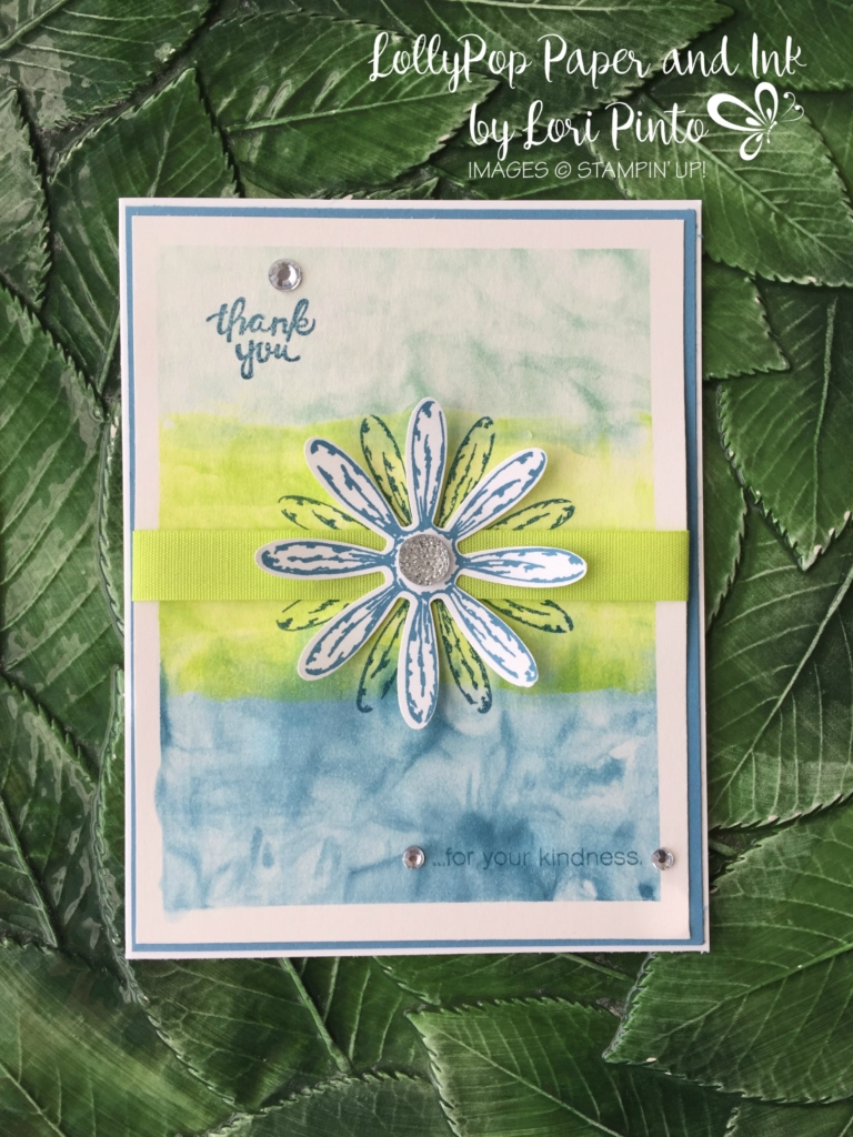 Stampin' Up!, Daisy Delight Bundle, Wood Words Stamp Set, Lemon Lime Twist, Shaving Cream Technique