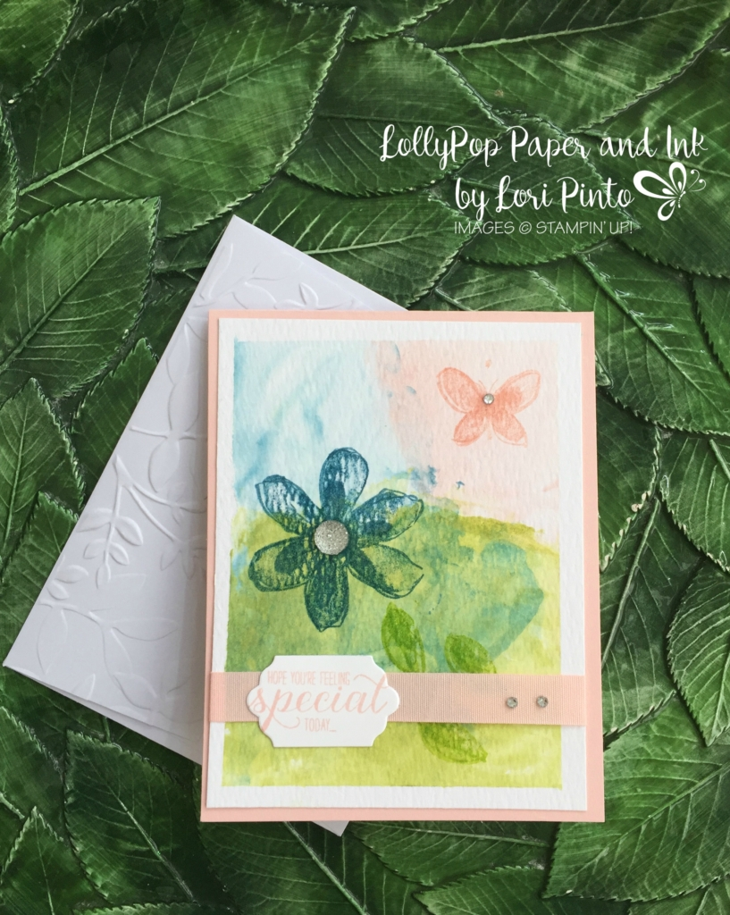 Stampin' Up!, Garden In Bloom Stamp Set, Shaving Cream Technique
