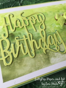 Stampin'Up! Happy Birthday Thinlit Dies, Lemon Lime Twist, In Color Bitty Bows