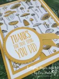 Stampin' Up!, Pick A Pattern DSP, Layering Circles Framelits Dies, Crushed Curry, All Things Thanks