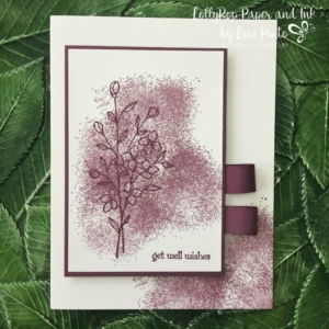 Stampin' Up! Touches of Texture stamp set, Fresh Fig, Teeny Tiny Wishes Fresh Fig Finely Woven Ribbon