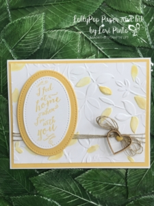 #tttc007, Stampin' Up!, At Home With You Stamp Set, Layered Leaves Embossing Folder, Stitched Shapes Ovals, Hearts and Stars Elements